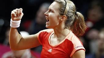 Stefanie Vögele in Linz in den Halbfinals
