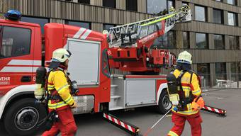 Mit der Autodrehleiter wurde beim Einsatz eine supponierte Personenrettung durchgeführt.