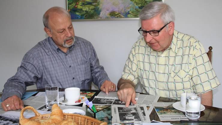 Karl-Friedrich Barthel (links) und Christian Knechtli schauen auf 20 Jahre Männerchor zurück. cfü