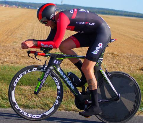 Kevin Winter beim Rennen gegen die Uhr beim renommierten Chrono Champenois in Frankreich.
