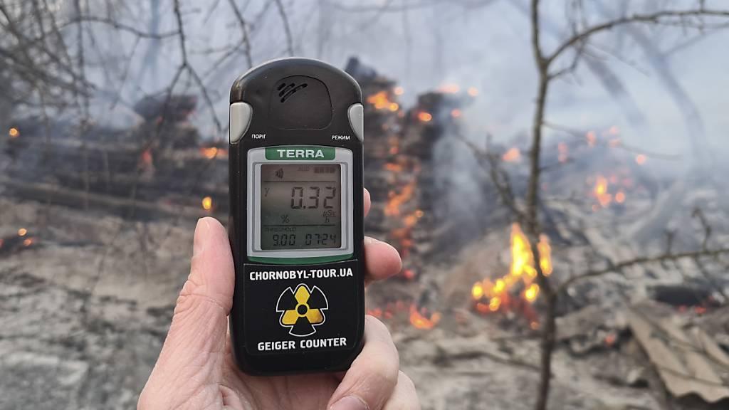 Feuerwehr verstärkt Löscheinsatz im Tschernobyl-Gebiet