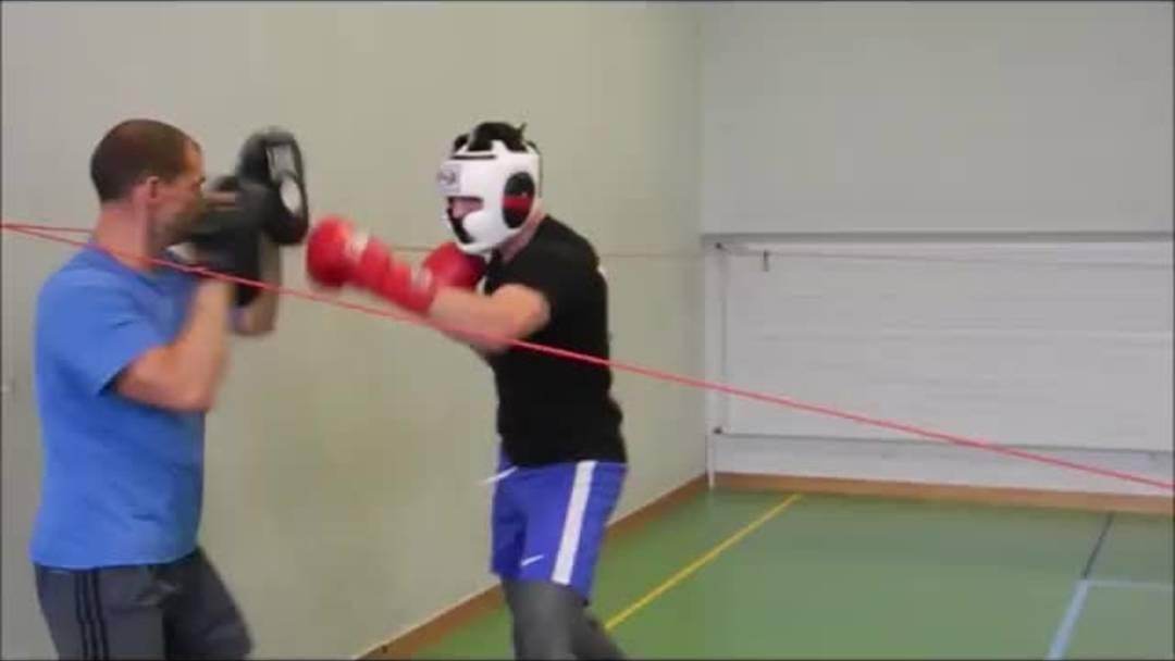 Im Training mit Hugo Hémeray vom Boxclub Grenchen