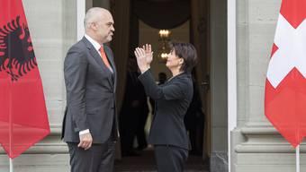Staatsbesuch Albanien-Schweiz: Edi Rama und Doris Leuthard