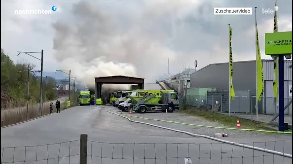 Brand in Recycling Center Kriens