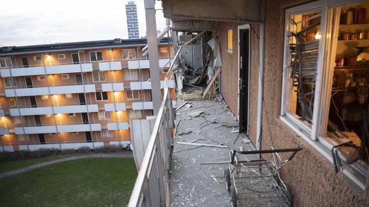 Eine Person wurde bei der Explosion in Husby in der Nähe von Stockholm verletzt.