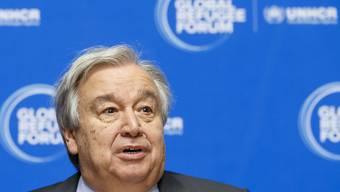 Die Vereinten Nationen sind Opfer einer Cyber-Attacke geworden. Im Bild UNO-Generalsekretär Antonio Guterres. (Archivbild)