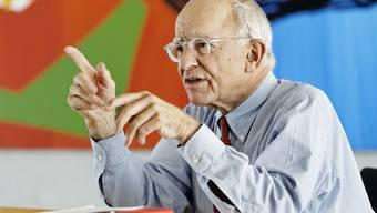 Michael Pieper, Besitzer der Franke Group, anlässlich eines Interviews im Firmensitz in Aarburg.