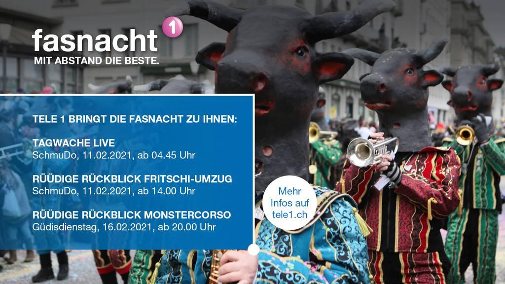 Das Fasnachtsprogramm 2021 auf dem Zentralschweizer Fernsehen Tele 1.