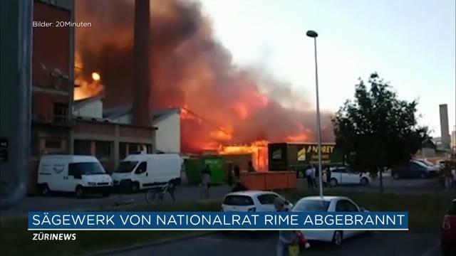 Grossbrand zerstört Sägewerk von SVP-Nationalrat