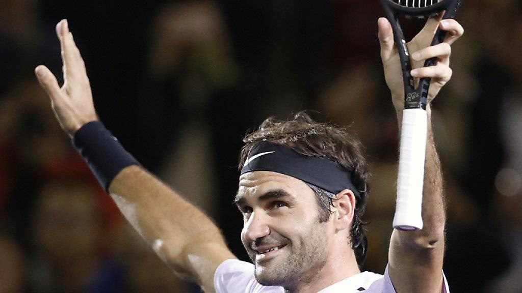 Roger Federer gelingt in Schanghai ein Steigerungslauf zum sechsten Turniersieg 2017