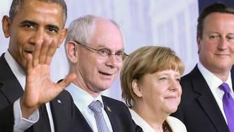 Obama, Van Rompuy, Merkel und Cameron in Brüssel