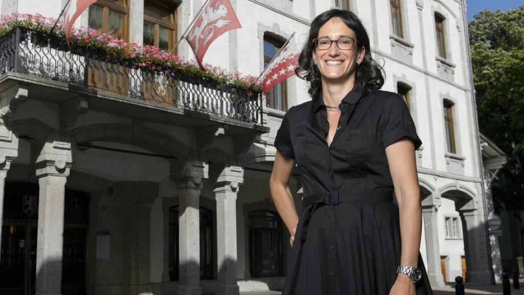 Martigny erbt von einer verstorbenen, wohlhabenden Frau 20 Millionen Franken. Im Bild die Stadtpräsidentin Anne-Laure Couchepin Vouilloz. (Archivbild)