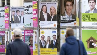 Plakate zu den Zürcher Kantons- und Regierungsratswahlen im April