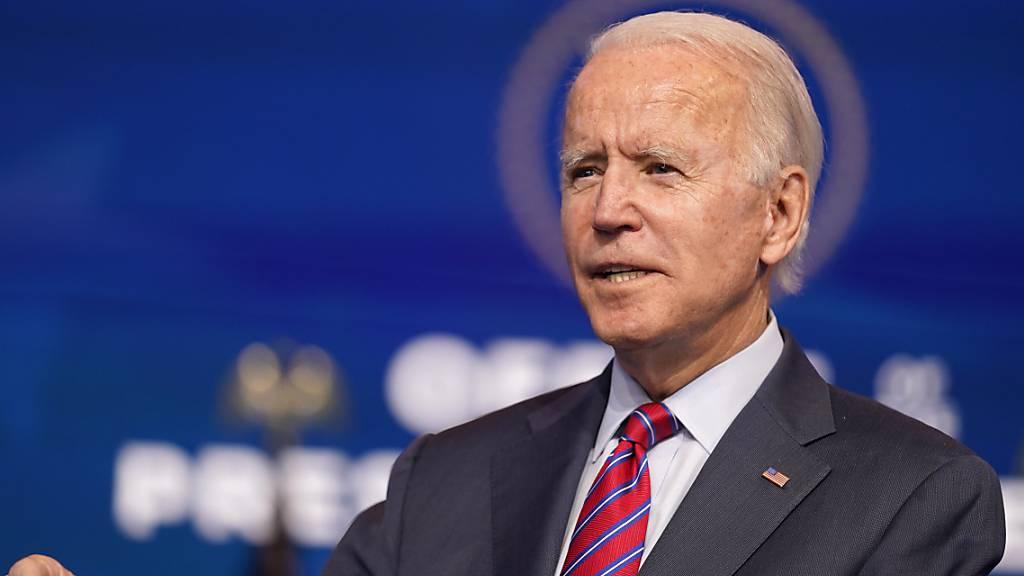 ARCHIV - Joe Biden, Gewählter Präsident (President-elect) der USA. Foto: Andrew Harnik/AP/dpa