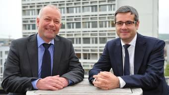Martin Wey und Benvenuto Savoldelli wollen in der kommenden Legislatur intensiv zusammenarbeiten.