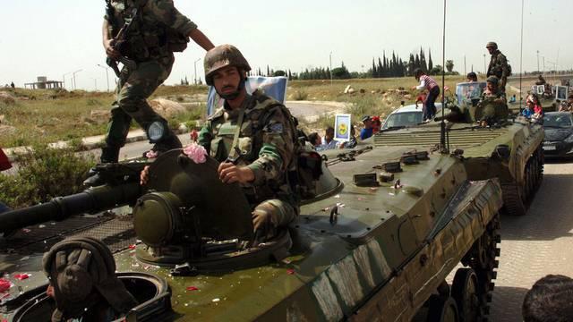 Syrische Soldaten rücken an (Archiv)