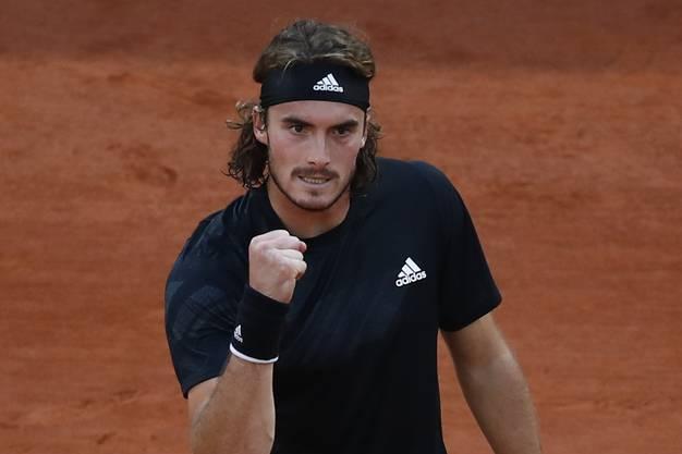 Erstmals seit den Australian Open 2019, wo er Roger Federer ausgeschaltet hatte, steht Stefanos Tsitsipas im Halbfinal eines Grand-Slam-Turniers.