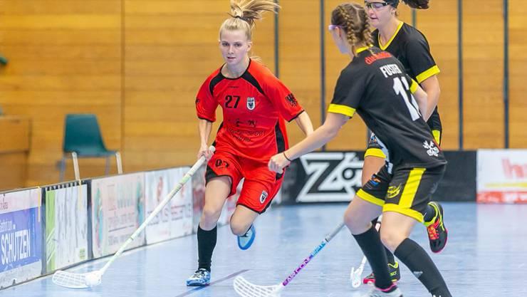 2 Tore, 2 Assists: Michelle Schär (links) glänzte als Torschützin und als Vorbereiterin
