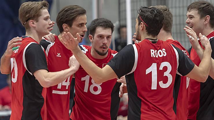 Die Schweizer Volleyballer schwören sich ein