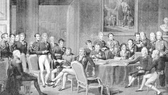 Die reaktionären Fürsten entschieden 1815 in Wien unter anderem, dass das Birseck zum oligarchisch regierten Kanton Basel kommen sollte.
