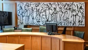Der Saal des Bezirksgerichts Lenzburg.