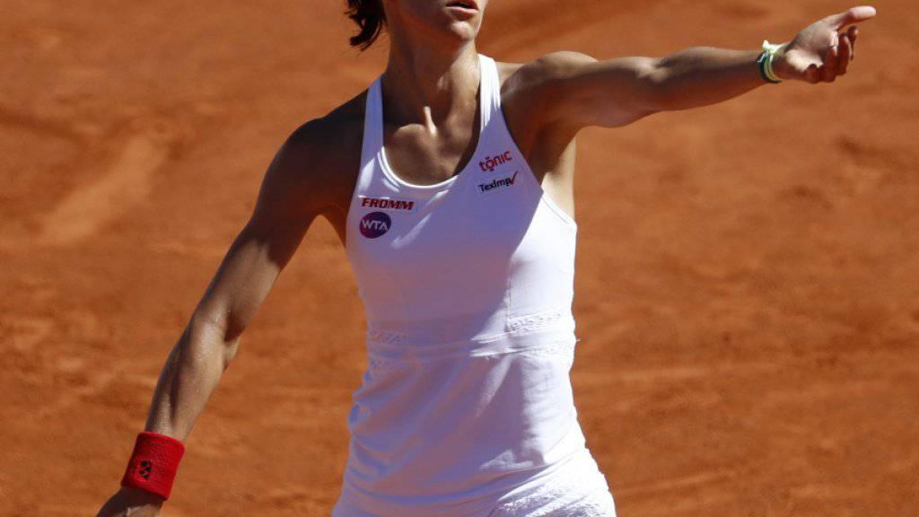 Weiterhin mit Blick nach vorne: Viktorija Golubic gewann in Bastad ihr erstes Spiel nach dem Turniersieg in Gstaad