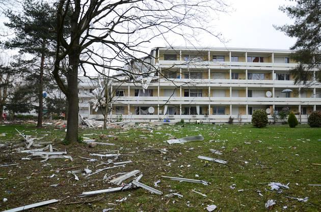 Das Wohnhaus liegt in Trümmern