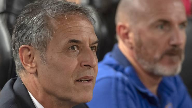 Cheftrainer Marcel Koller und Assistent Carlos Bernegger müssen mit dem FCB durchstarten