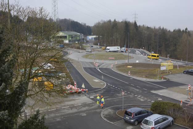 Der Doppelkreisel in Bremgarten steht vor der Fertigstellung.