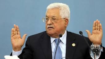 """""""Werden nicht Sklaven oder Diener der US-Regierung"""": Palästinenserpräsident Mahmud Abbas."""