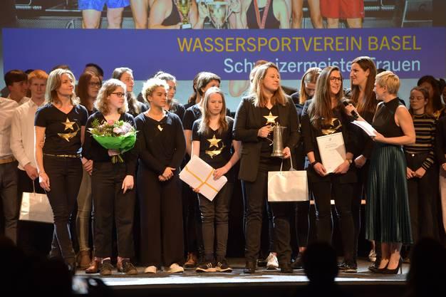 Die Wasserballerinnen des Wassersportverein Basel sind das Team des Jahres.