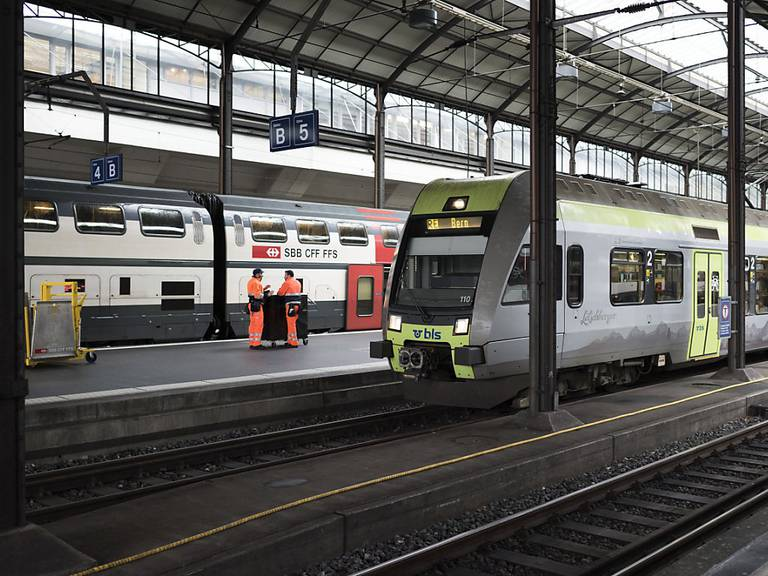 Wieder fast freie Fahrt im Bahnhof Luzern: Die Reparaturarbeiten nach der Entgleisung sind abgeschlossen. (Archivbild)