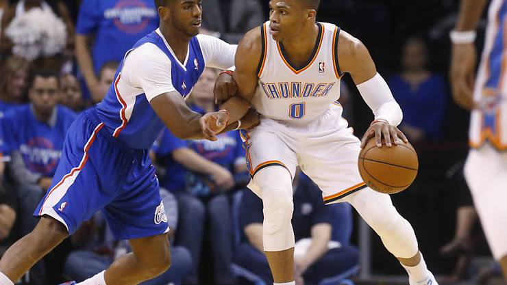 Russell Westbrook (am Ball) wechselt zu den Houston Rockets