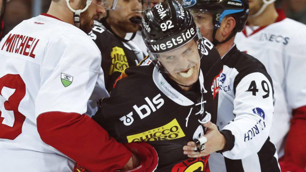Energisch zum Sieg: Gaëtan Haas (re.) schoss Bern gegen Lausanne schon nach zwölf Minuten vorentscheidend 2:0 in Führung