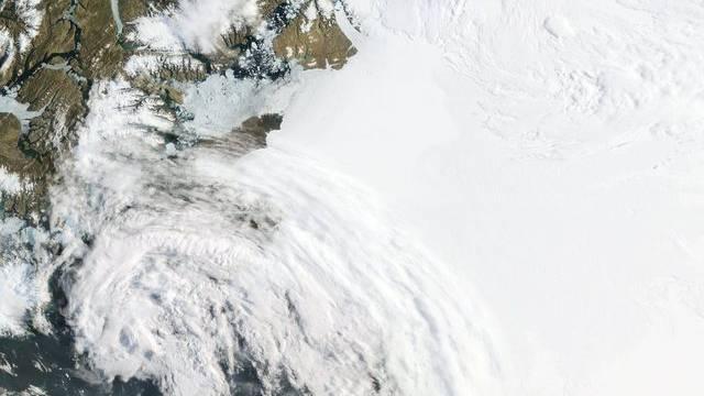 Grönland von oben: Eine Satellitenaufnahme der Nasa (Archiv)