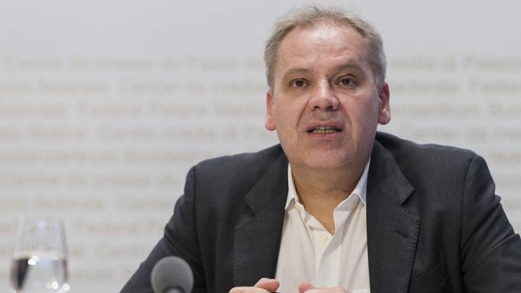 Patrick Mathys, Leiter Sektion Krisenbewältigung und internationale Zusammenarbeit vom BAG. (Bild: Keystone)
