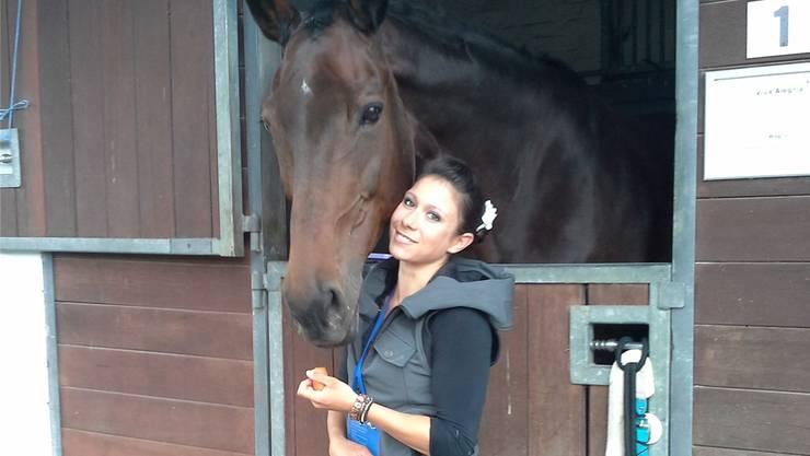 Pascale Wagner mit ihrem Pferd Viva Alegria.