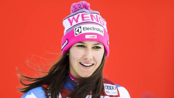 Wendy Holdener nach ihrem Kombinations-Sieg in der Lenzerheide