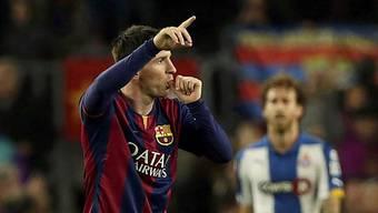 Barcelonas Lionel Messi trifft auch im Derby gegen Espanyol.