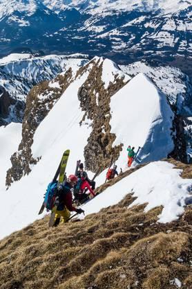Vom Gipfel des Gross Fulfirst mussten die Hombergler einige Meter absteigen.