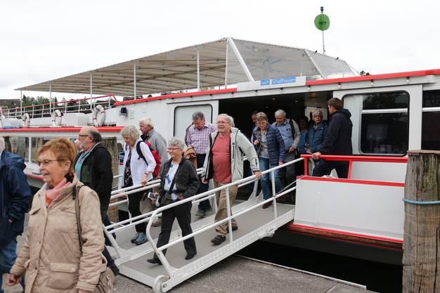 Die Schifffahrt auf Untersee und Rhein endete bei Stein am Rhein.