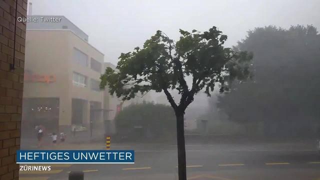 Hitzewelle in Zug endete mit heftigen Gewittern