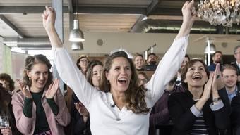 Eine breite Allianz hat die SVP-Initiative gebodigt: Andrea Huber hat den Widerstand organisiert. Sie wird flankiert von Flavia Kleiner (l.) von Operation Libero und Grünen-Präsidentin Regula Rytz