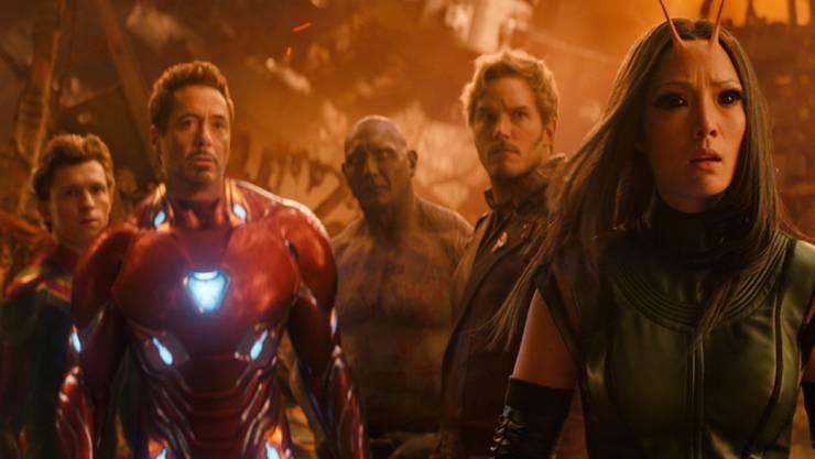 """Szenenbild aus """"Avengers: Infinity War"""". Der Science-Fiction-Film beherrschte am Wochenende vom 26. bis 29. April 2018 die Kinos der Welt. Auch in der Schweiz belegte er mit grossem Abstand Platz 1. (Archiv)"""