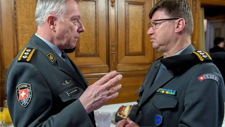Duz-Freunde: Armeechef André Blattmann und Luftwaffenchef Aldo C. Schellenberg gelten als «gut eingespieltes Tandem».