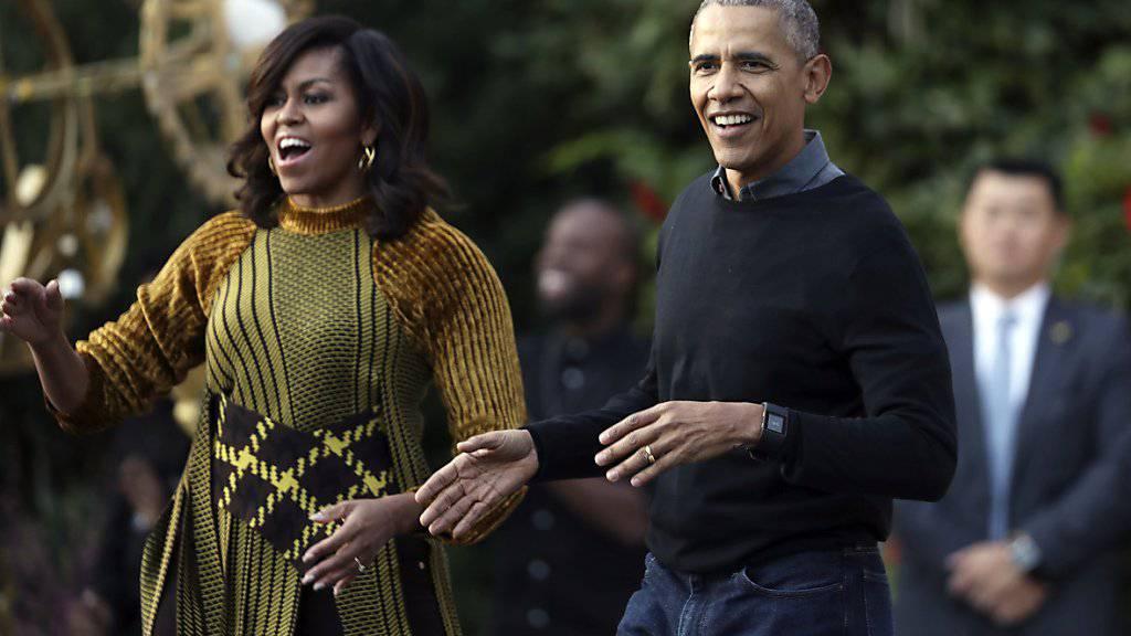 US-Präsident Barack Obama und First Lady Michelle Obama melden sich das letzte Mal zu Weihnachten aus dem Weissen Haus. (Archiv)