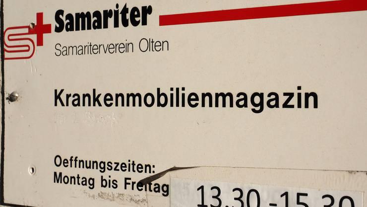 Vergangenheit: das Krankenmobilien-Magazin in Olten Bruno Kissling