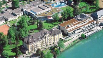 Die Anlagen der Parkresort Rheinfelden Holding AG befinden sich in unmittelbarer Nähe des Rheins. pd