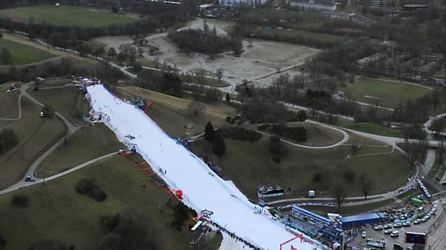 Das wirds an Neujahr nicht geben: Skirennen im Olympiapark.