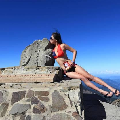 Bestieg in vier Jahren mehr als 100 Gipfel und machte Selfies im Bikini: die Taiwanesin Gigi Wu.